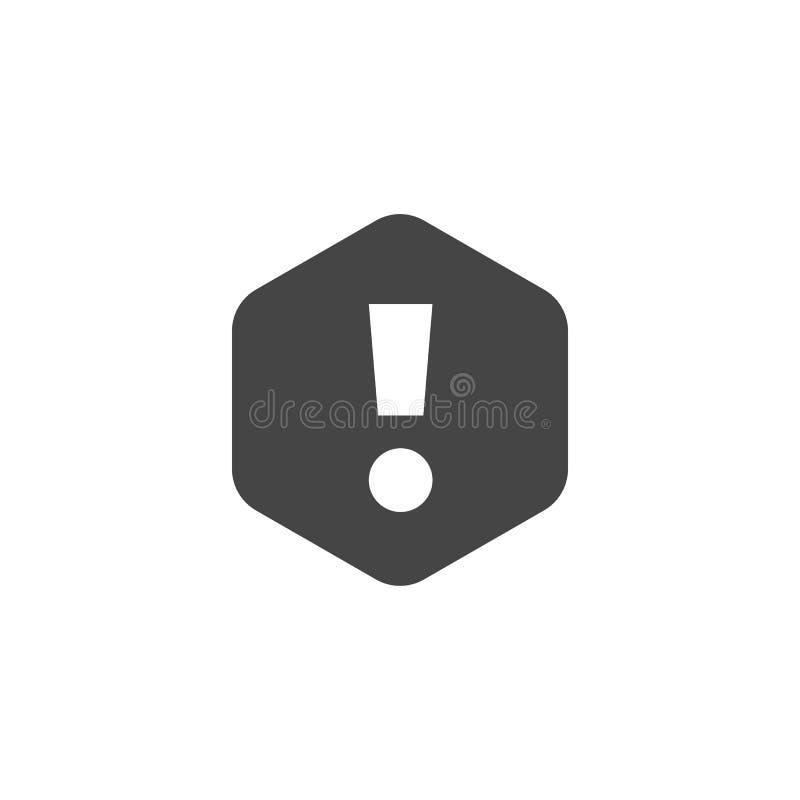 Okrzyk oceny znak Sieci ikony powiadomienia, raźny symbol, uwaga Interfejs informaci piktogram Wektor Odizolowywający ilustracji