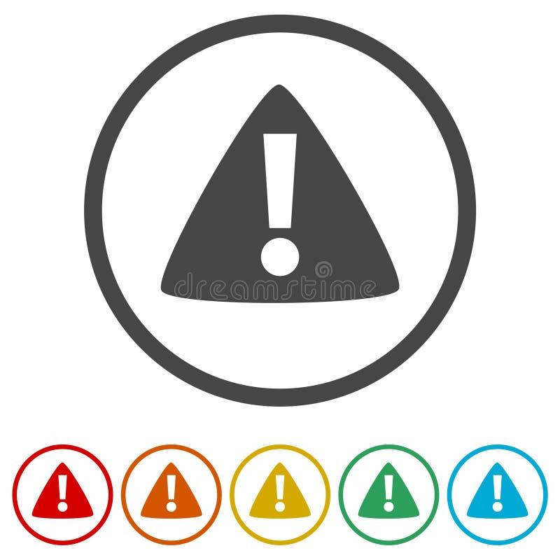 Okrzyk oceny znaka ikona, Raźna ikona, 6 kolorów Zawierać ilustracja wektor