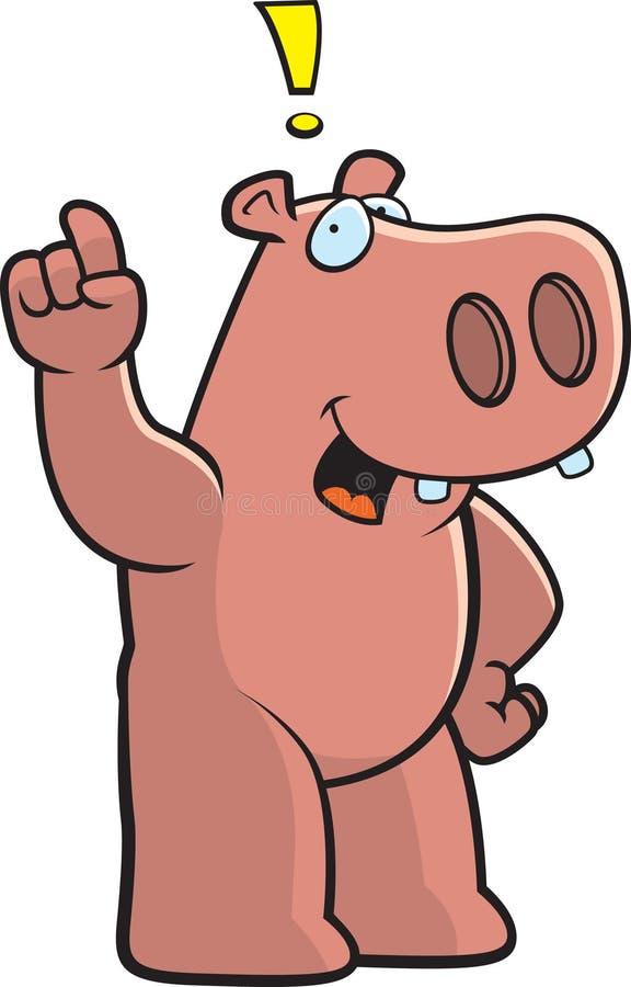 okrzyka hipopotam royalty ilustracja