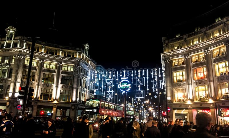 Oksfordzki cyrk, Londyn obrazy stock