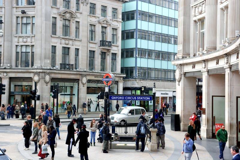 Oksfordzki cyrk staci znak zdjęcia stock