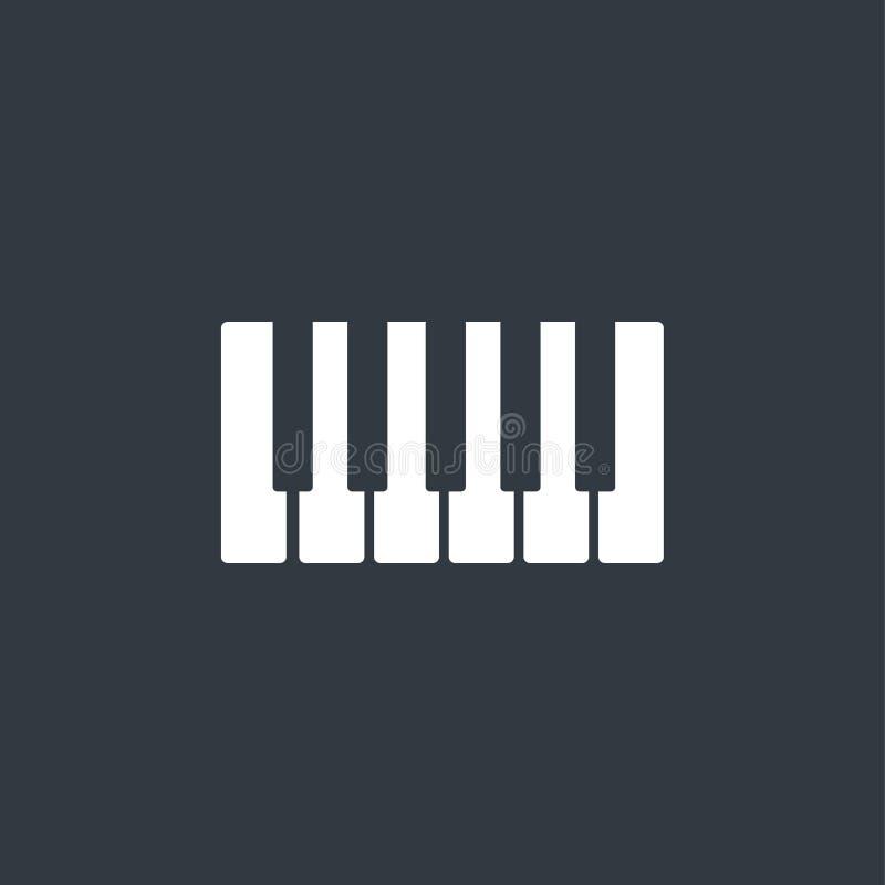 Oktav piano stämmer symbolen stock illustrationer