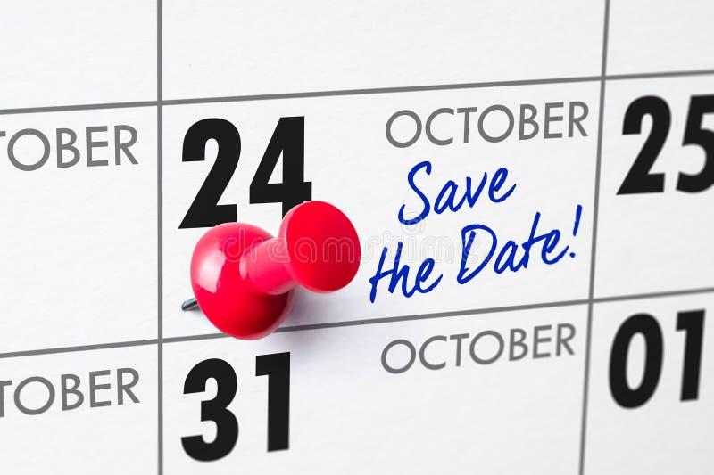 Oktober 24 royaltyfri bild