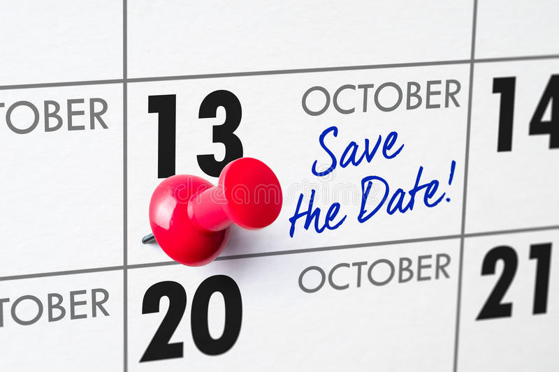 Oktober 13 royaltyfria foton