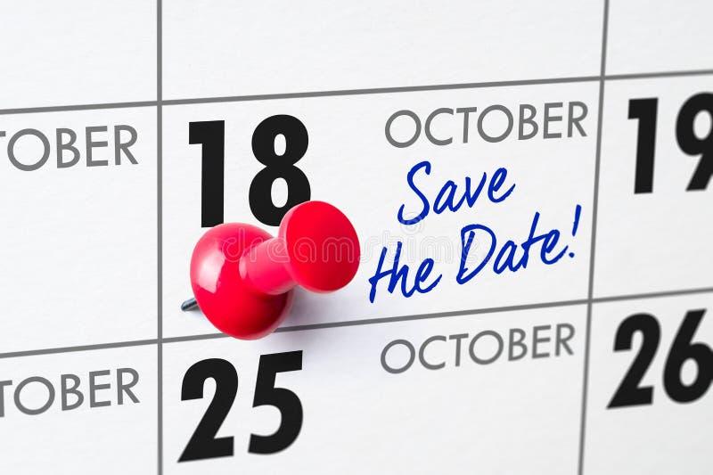 Oktober 18 royaltyfri fotografi