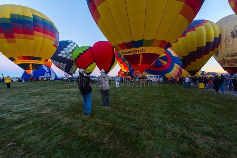 Oktober 2017, Albuquerque, New Mexico; De Internationale Fiesta van de Hete Luchtballon royalty-vrije stock afbeelding