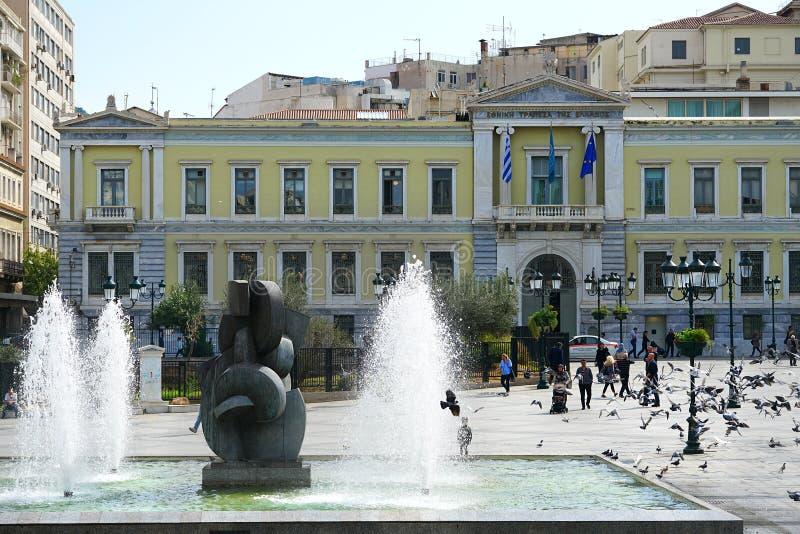 05 OKTOBER 2018, ATHENE, GRIEKENLAND National Bank van Griekenland stock afbeelding