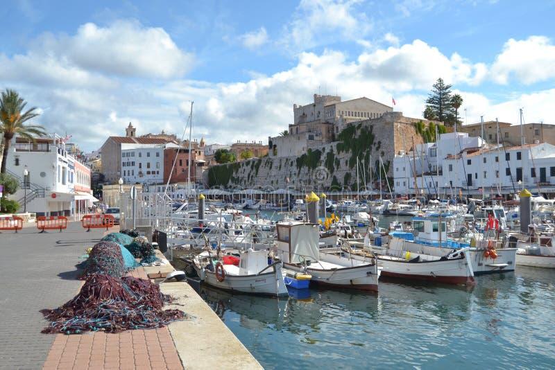 Oktober 2017, Ciutadella, Minorca Solig dag i ett av Balearicen Island arkivbilder