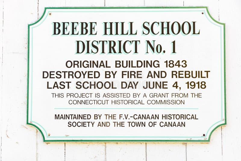 Oktober 18, 2016 - hus för skola för rum för Beebe kulle en, stad av Kanaan, CT royaltyfri foto