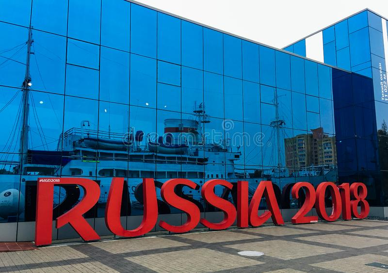Oktober 20, 2017 Kaliningrad Ryssland 2018 royaltyfri foto