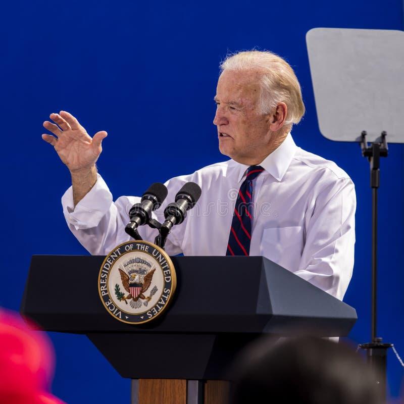 13. OKTOBER 2016: Kampagnen Vizepräsidenten Joe Biden für Nevada Democratic U S Senatskandidat Catherine Cortez Masto und presid stockfotografie