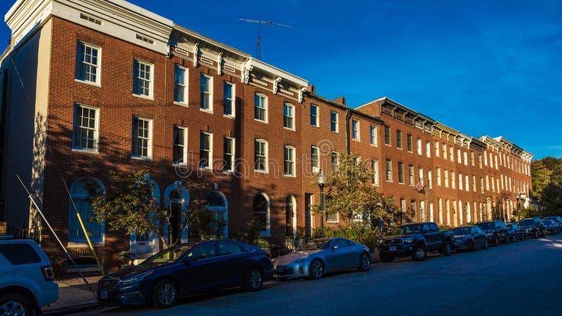 OKTOBER 28, 2016 - radhus på den Bolton gatan, Bolton kulle, Baltimore, Maryland, USA arkivfoton
