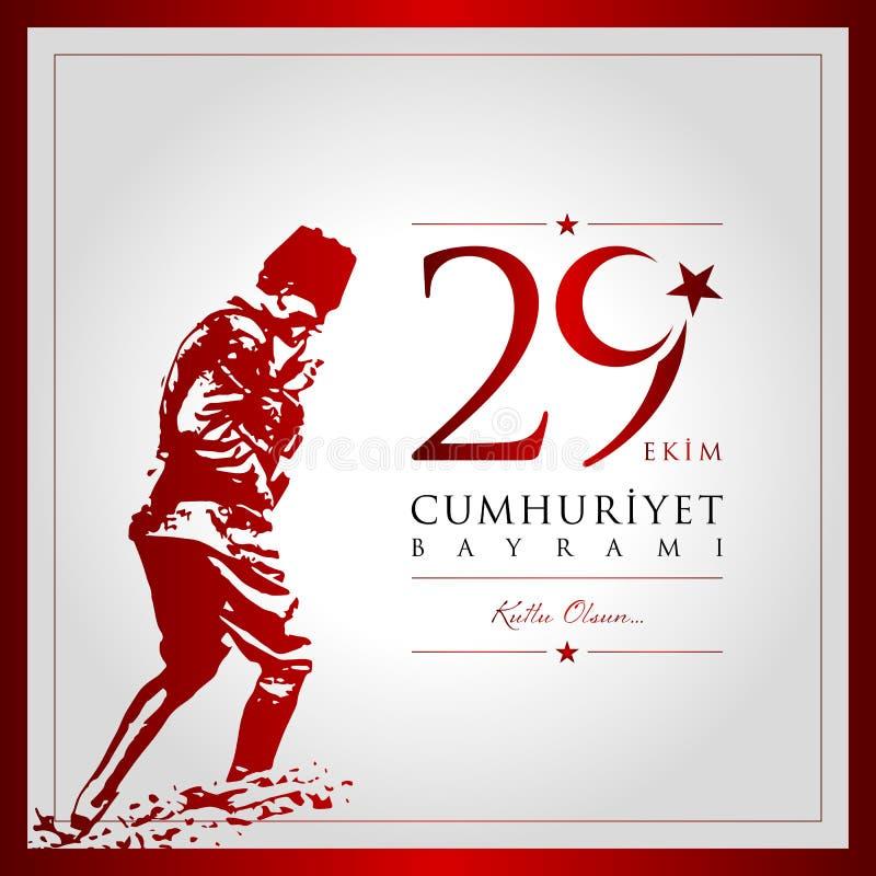 29. Oktober Tag von der Türkei lizenzfreie abbildung