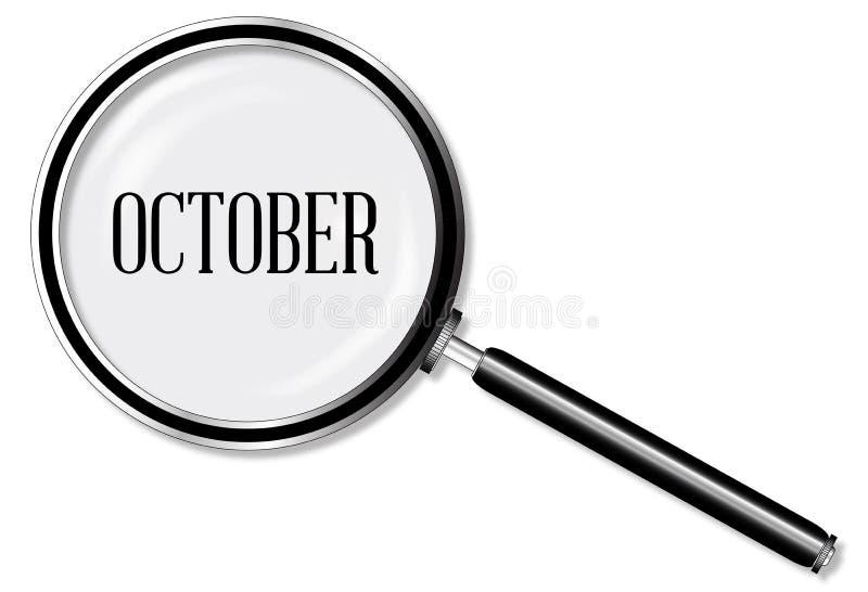 Oktober-Vergrootglas stock illustratie