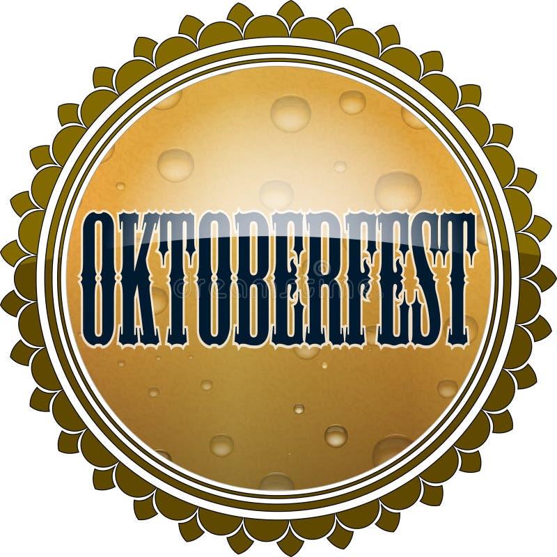 Oktoberfest设计 光滑签署啤酒黄柏被传统化的形状  向量例证