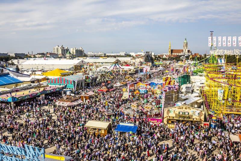 Oktoberfest överblick royaltyfria bilder