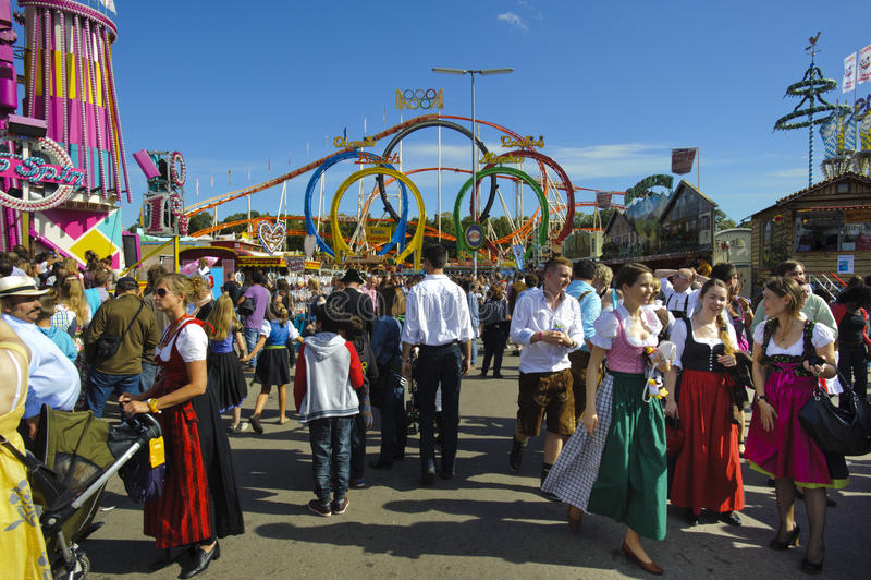 Oktoberfest в munich стоковое изображение