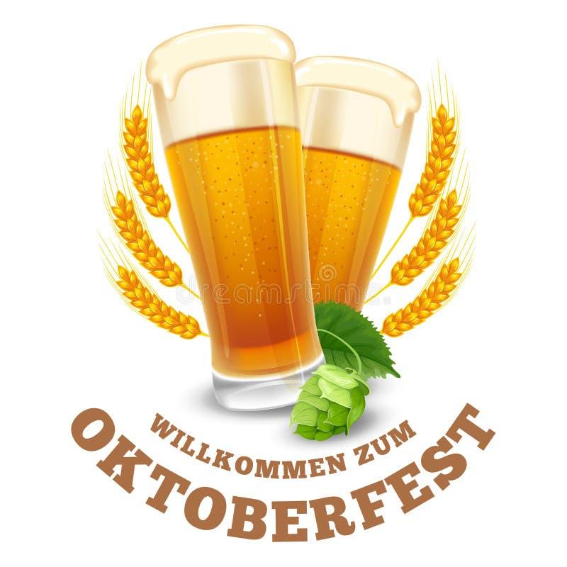 oktoberfest stock de ilustración