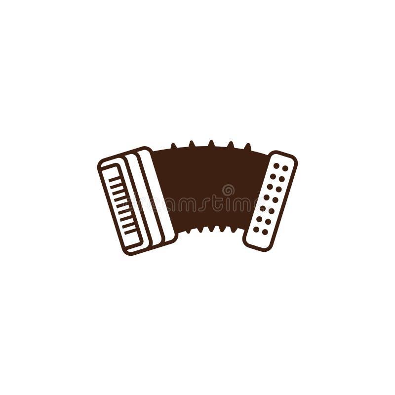 Oktoberfest accordion instrument celebration isolated icon. Vector illustration design vector illustration