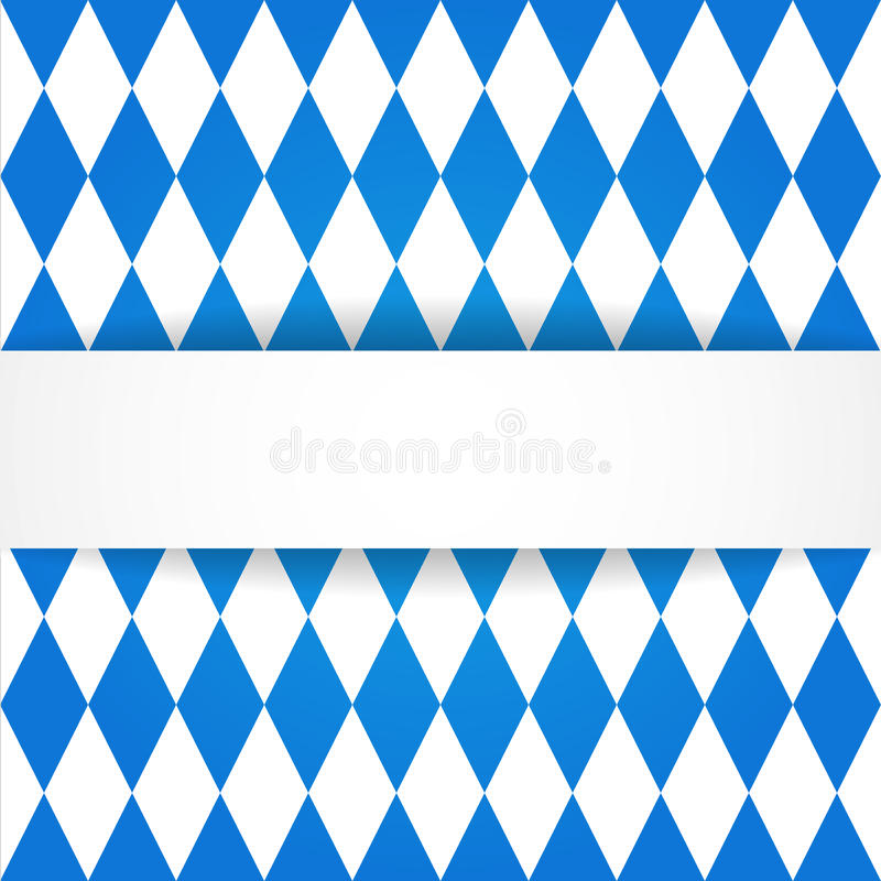 Oktoberfest background. Bavarian flag patter stock illustration