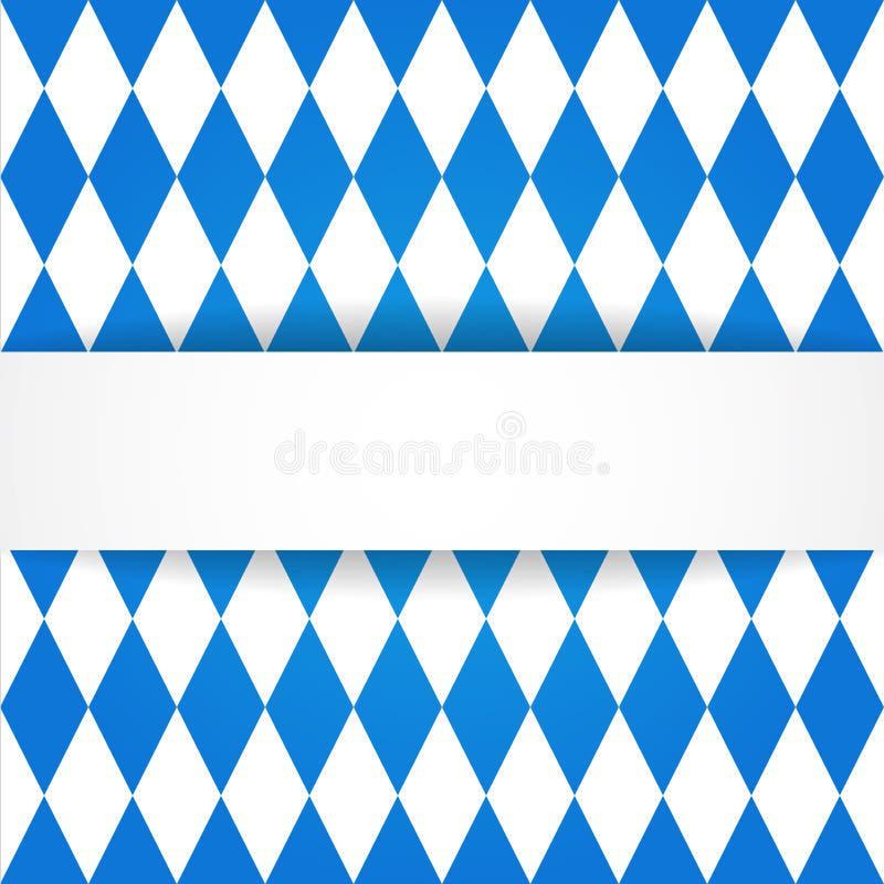 Oktoberfest background. Bavarian flag patter. Vector illustration of Oktoberfest background. Bavarian flag pattern stock illustration