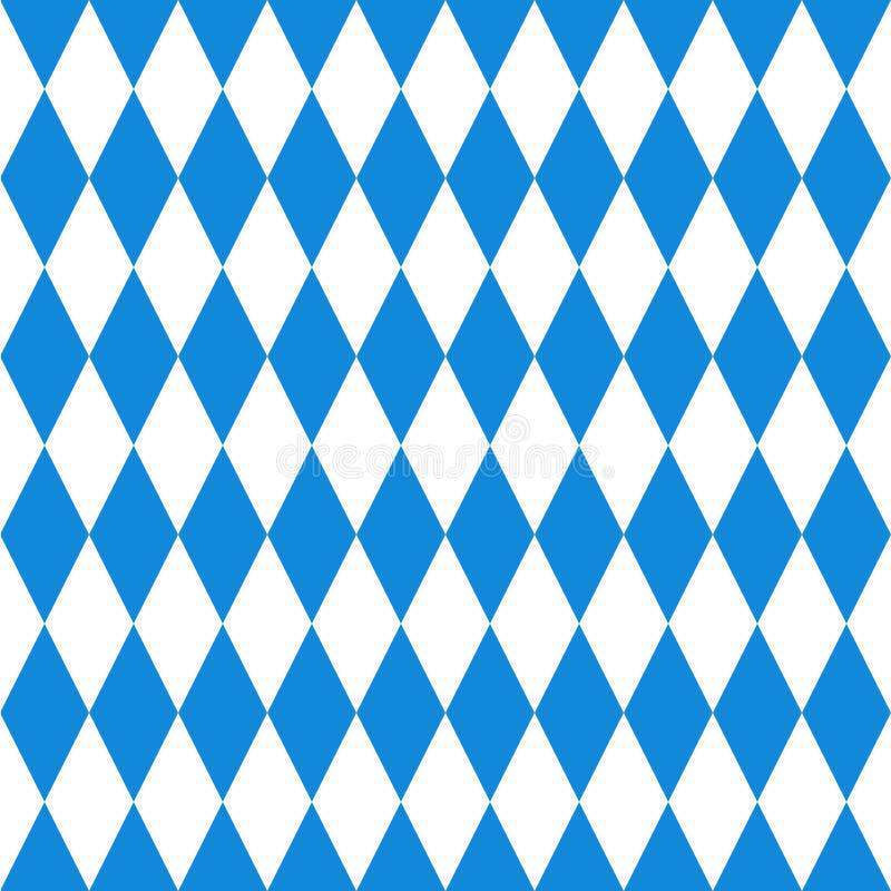 Oktoberfest background. Bavarian flag pattern. Vector illustration of Oktoberfest background. Bavarian flag pattern royalty free illustration