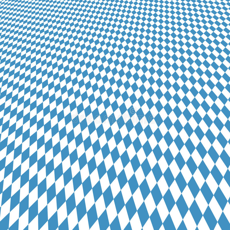Oktoberfest background blue-white checkered. Oktoberfest background with blue white checkered three dimensional pattern stock illustration