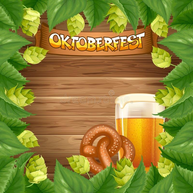 Oktoberfest background stock illustration