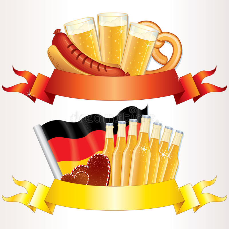 Download Oktoberfest Banners stock vector. Image of flag, glass - 20754981