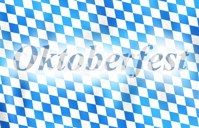 Oktoberfest Bavaria Flag Design. Creative Illustration Colored Image stock illustration
