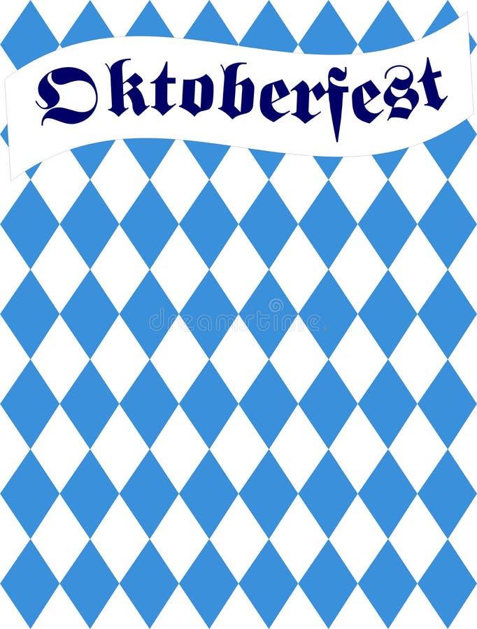 Oktoberfest bavarian flag pattern. Oktoberfest with bavarian flag pattern royalty free illustration