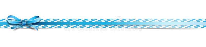 Oktoberfest bavarian ribbon banderole isolated vector. Design royalty free illustration