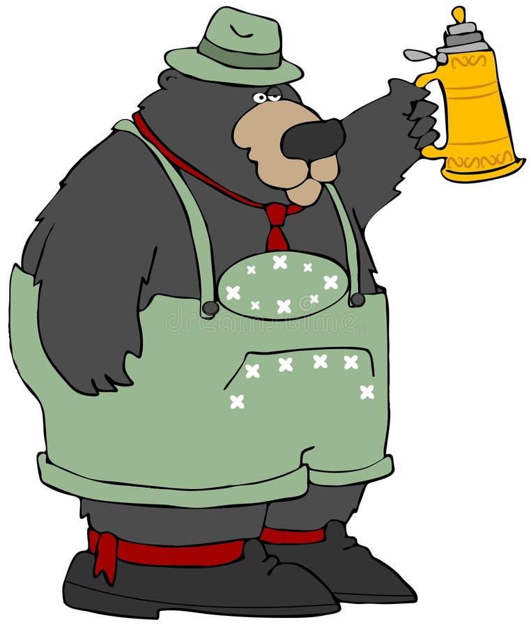 Oktoberfest Bear royalty free illustration