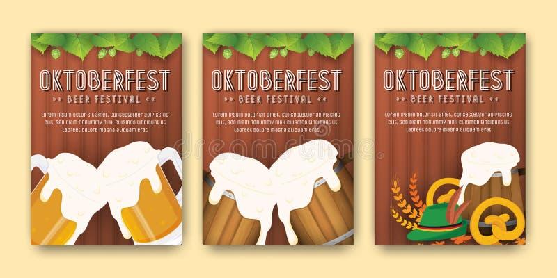 Oktoberfest beer festival advertisement poster and flyer template. Oktoberfest beer festival advertisement poster template. Oktoberfest background for flyer vector illustration