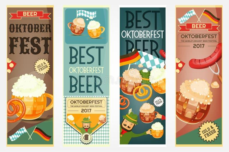 Oktoberfest Beer Festival Banners Set royalty free illustration
