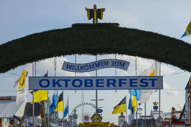 Oktoberfest beer festival in Munich, Germany. Beer Festival Oktoberfest in Munich, Bavaria, Germany, Europe stock photos