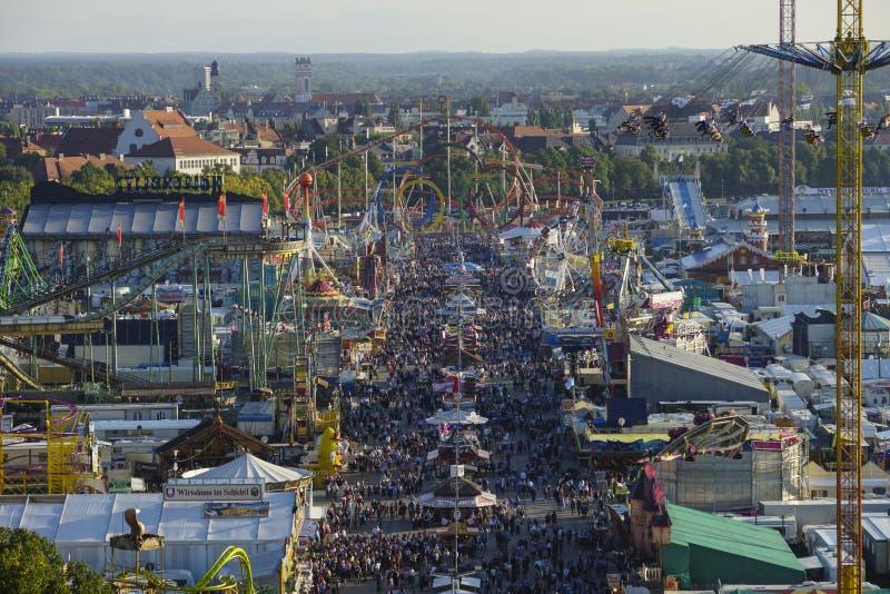 Oktoberfest beer festival in Munich, Germany. Look at the Wiesn, Munich Oktoberfest Beer Festival, Bavaria, Germany stock images