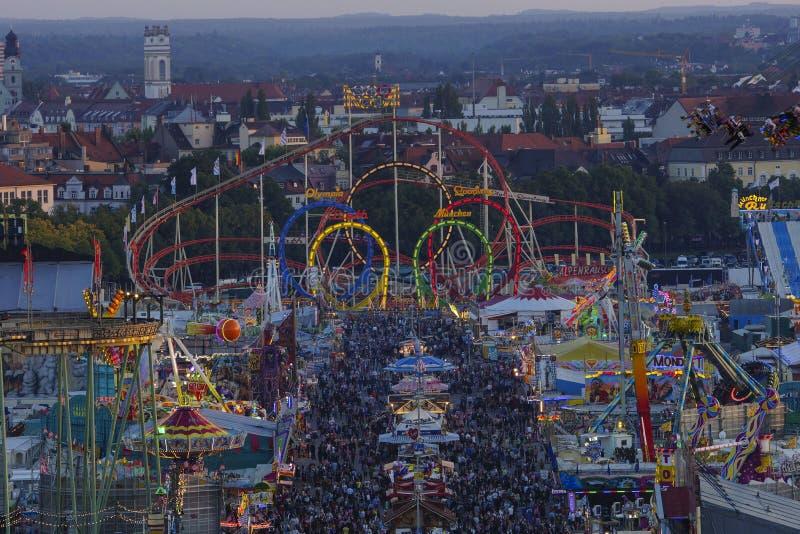 Oktoberfest beer festival in Munich, Germany. Look at the Wiesn, Munich Oktoberfest Beer Festival, Bavaria, Germany royalty free stock photos