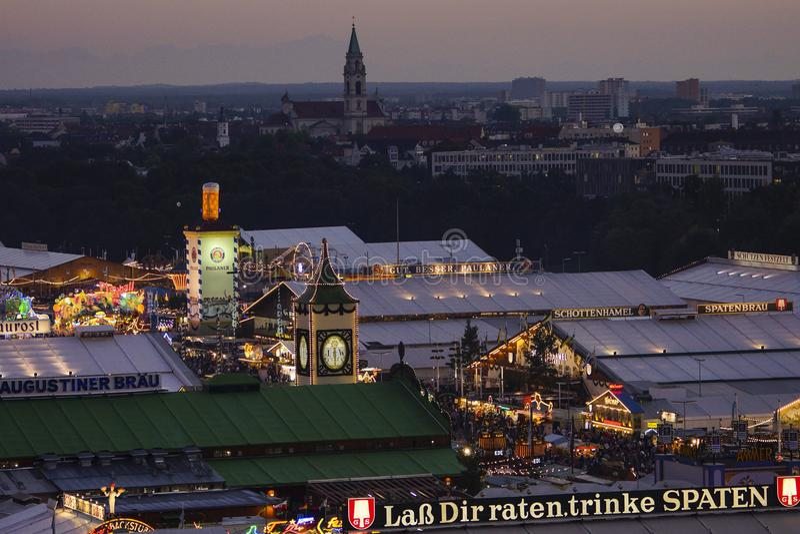 Oktoberfest beer festival in Munich, Germany. Look at the Wiesn, Munich Oktoberfest Beer Festival, Bavaria, Germany, Europe royalty free stock photo