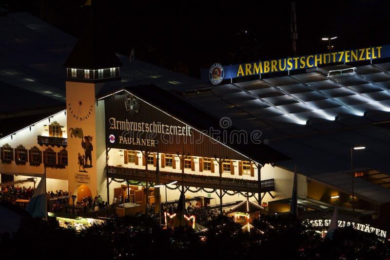 Oktoberfest beer festival in Munich, Germany. Look at the Wiesn, Munich Oktoberfest Beer Festival, Bavaria, Germany, Europe stock photography