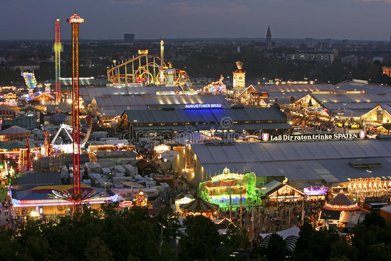 Oktoberfest beer festival in Munich, Germany. Look at the Wiesn, Munich Oktoberfes Beer Festival, Bavaria, Germany stock images
