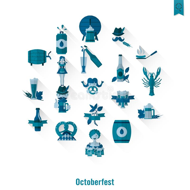 Oktoberfest Beer Festival vector illustration
