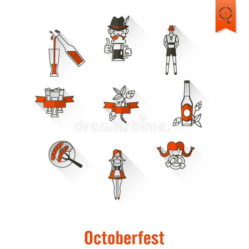 Oktoberfest Beer Festival royalty free illustration
