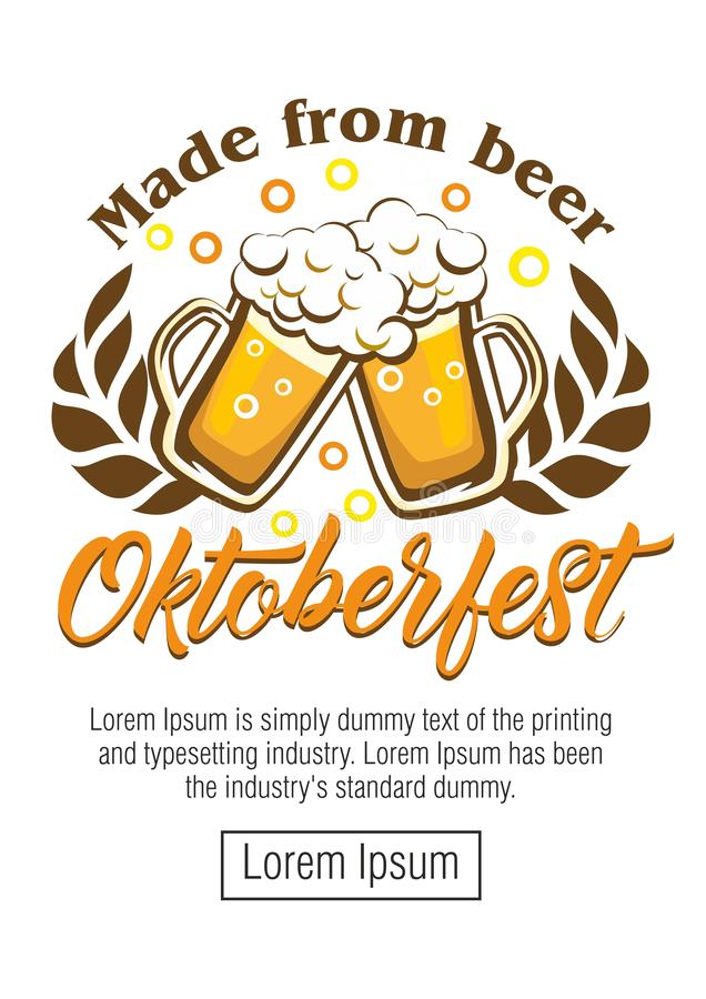 Oktoberfest beer festival stock illustration