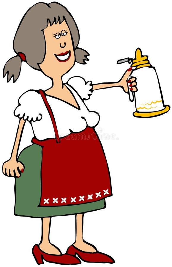 Download Oktoberfest Beer Maiden stock illustration. Image of bavarian - 10829975