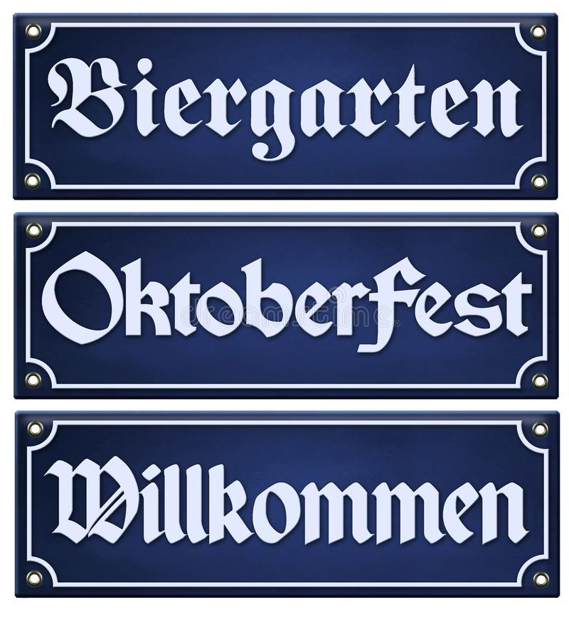 Oktoberfest Biergarten Sign vector illustration