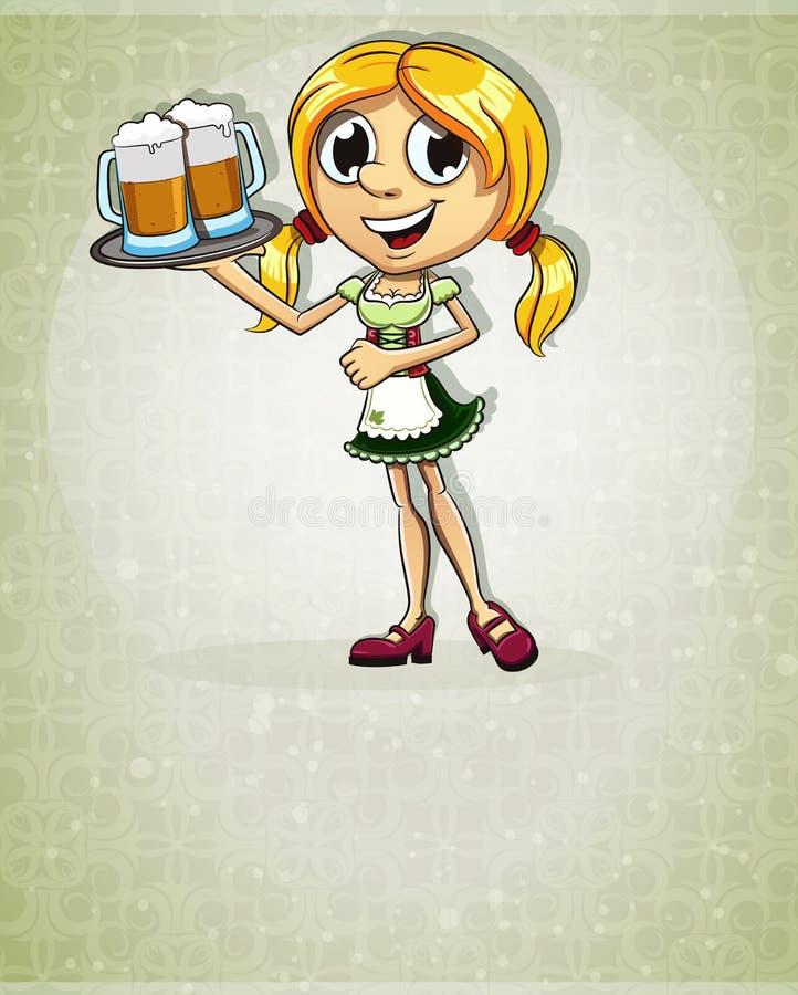Oktoberfest-Blondinenmädchen stock abbildung