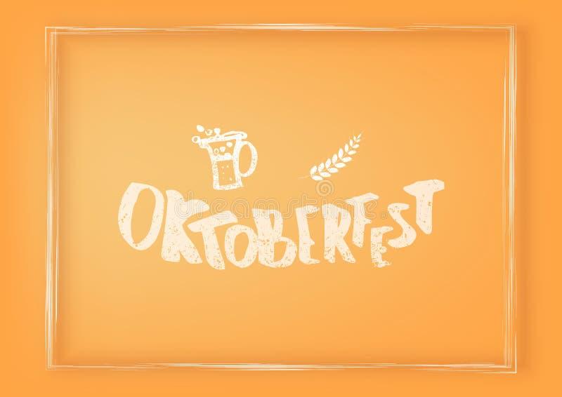 Oktoberfest bokstäversammansättning också vektor för coreldrawillustration stock illustrationer