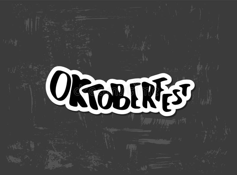 Oktoberfest bokstäversammansättning också vektor för coreldrawillustration royaltyfri illustrationer