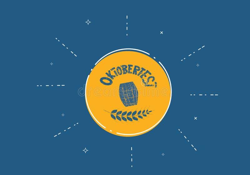 Oktoberfest bokstäversammansättning också vektor för coreldrawillustration vektor illustrationer